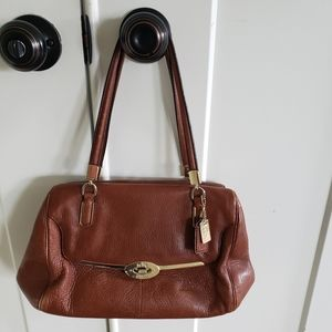 Coach brown leather satchel 25169